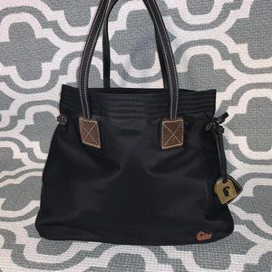 Dooney & Bourke Black Tote Bag Pink Interior